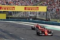 Beste Voraussetzungen: Sebastian Vettel und Kimi Räikkönen starten aus der ersten Reihe in den Ungarn-GP