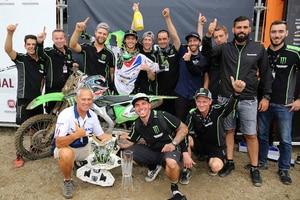 Ein wenig gefeiert wurde im Kawasaki-Team von Dylan Ferrandis wohl doch