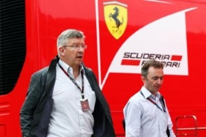 Ross Brawn (links) und Ferrari: Es ist zum Davonlaufen