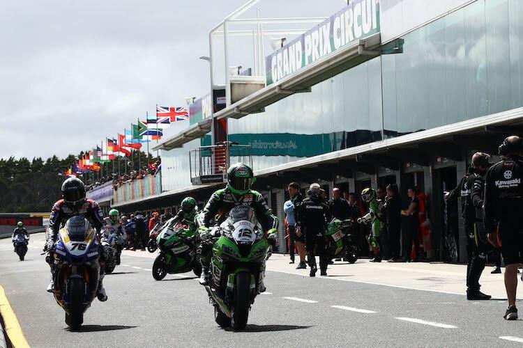 Willkommen zum Rennen auf Phillip Island