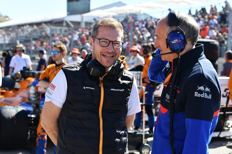 Andreas Seidl mit Toro-Rosso-Teamchef Franz Tost
