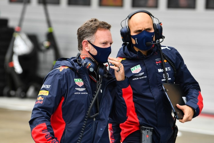 Christian Horner (links) in Ungarn