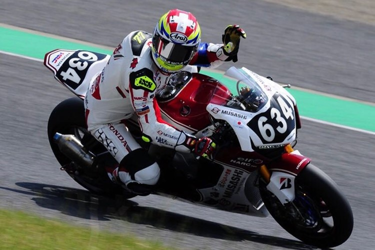 Dominique Aegerter in Suzuka