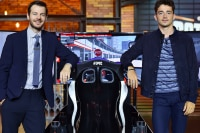 Alessandro Cattelan mit Charles Leclerc