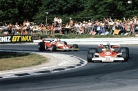 James Hunt gegen Niki Lauda in Brands Hatch 1976