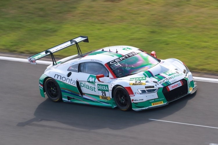Der Audi R8 LMS von Connor De Phillippi/Christopher Mies