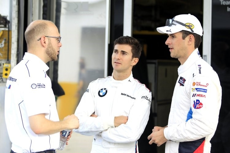 BMW-Piloten: John Edwards (re.) und Connor de Phillippi (Mitte)