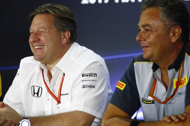 Zak Brown und Mario Isola