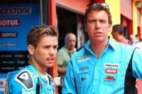 Alvaro Bautista (links) mit Paul Denning
