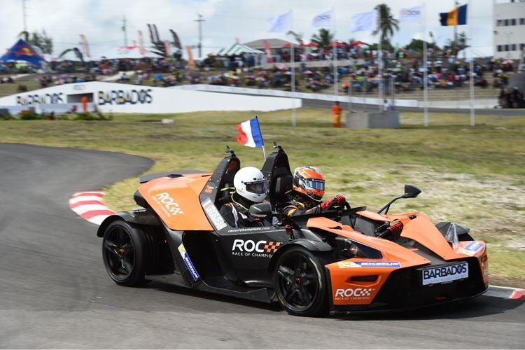 Romain Grosjean im KTM X-Bow