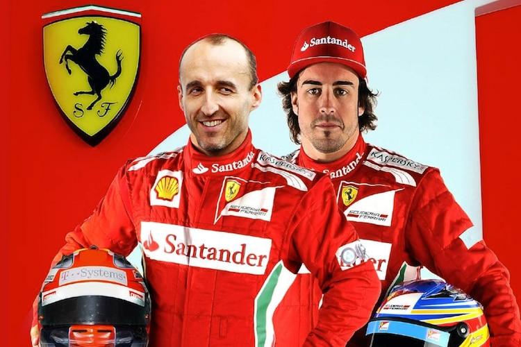 Robert Kubica Fernando Alonso Ferrari Team 2012 Formel 1 Speedweek Com