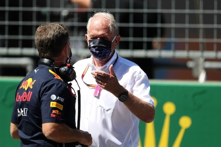 Red Bull Racing-Teamchef Christian Horner mit Red Bull-Rennberater Dr. Helmut Marko