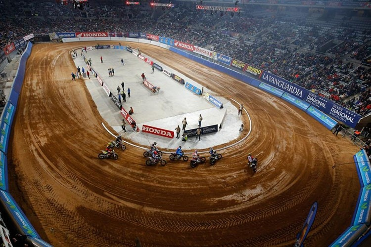 Marc Márquez dominierte 2014 beim «Superprestigio Dirt Track» in der Sant Jordi Arena in Barcelona