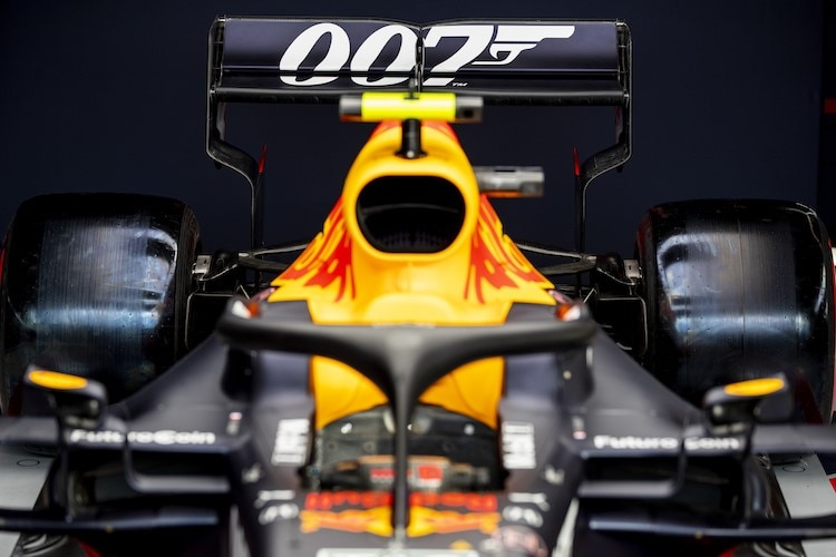 Red Bull Racing-Honda fährt in Silverstone mit 007