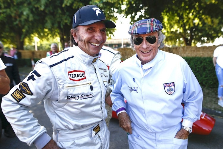 Emerson Fittipaldi und Jackie Stewart 2019 beim Goodwood Festival of Speed