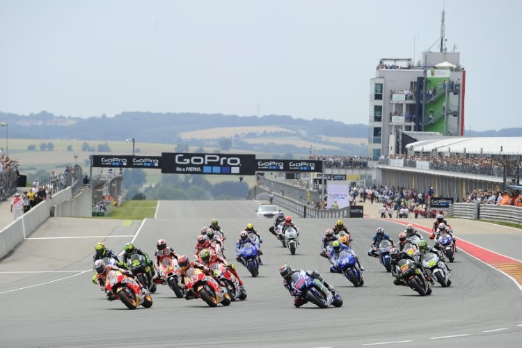 MotoGP-Start in Sachsen 2015