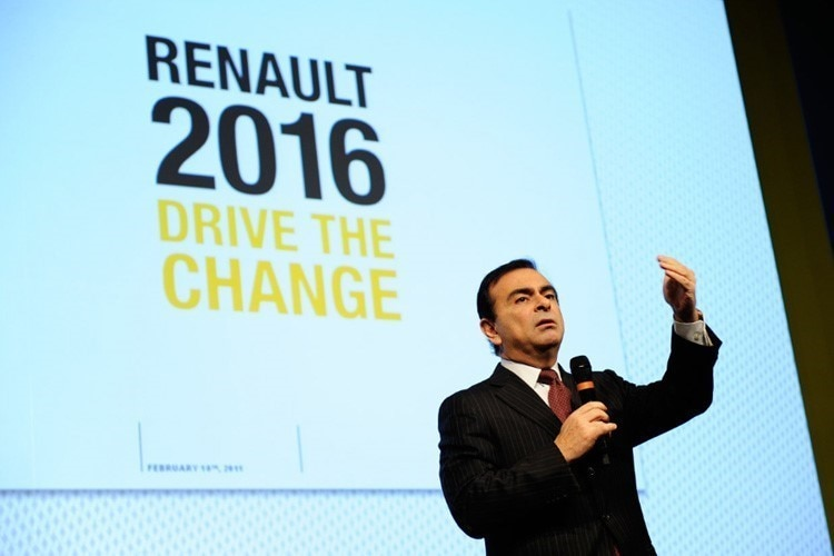 Renault-Chef Carlos Ghosn gibt Gas