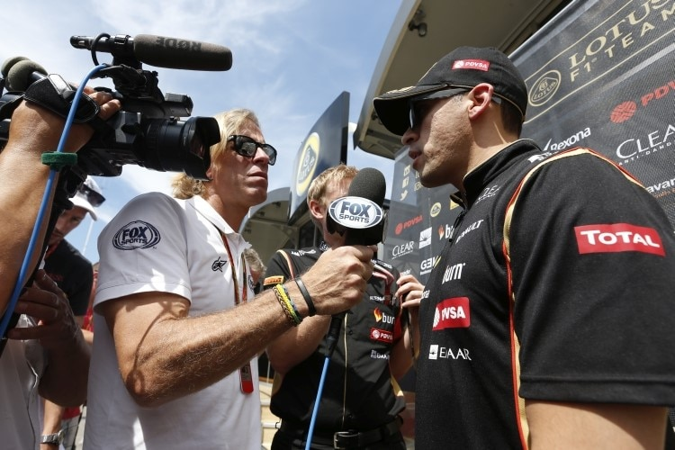 Pastor Maldonado beim Interview