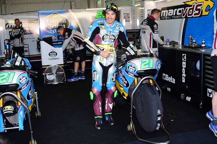 Franco Morbidelli in der Marc VDS-Box