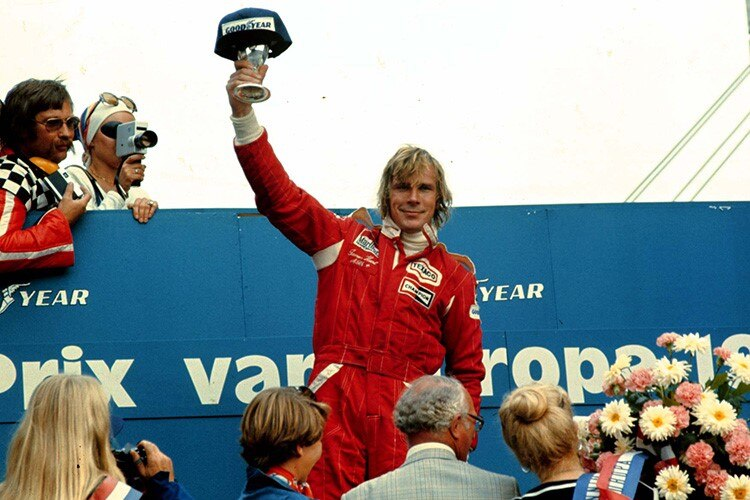 James Hunt in den Niederlanden 1976
