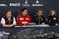 Zak Brown (McLaren), Mattia Binotto (Ferrari), Cyril Abiteboul (Renault) und Claire Williams (Williams)