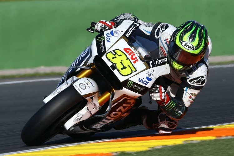Cal Crutchlow beim Michelin-Test in Valencia