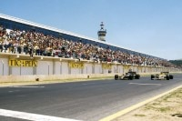 Senna (links) gegen Mansell in Jerez 1986