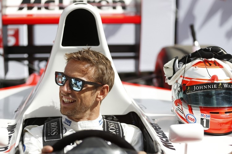 Jenson Button in Goodwood