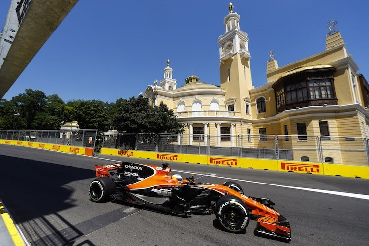 Fernando Alonso in Baku