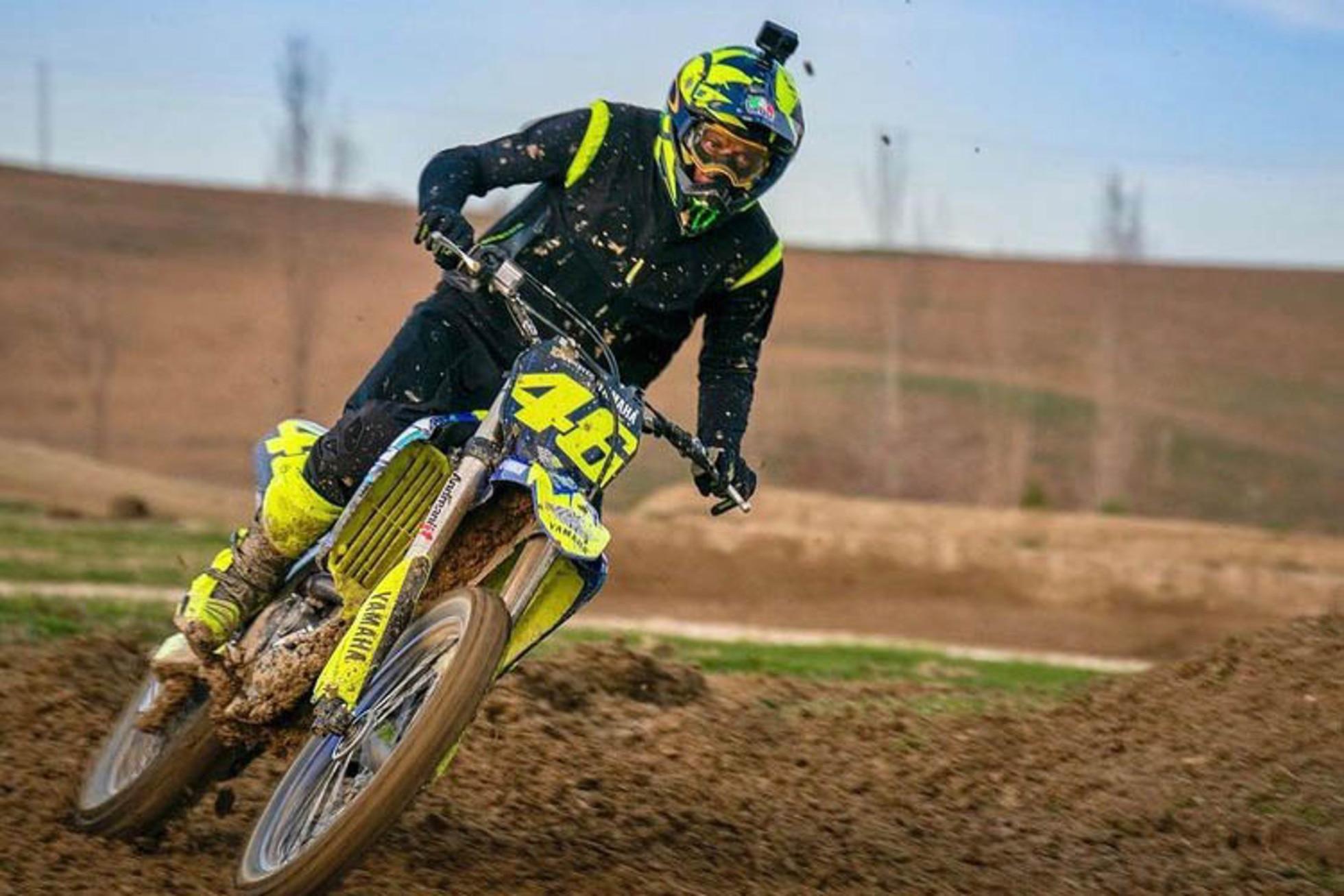 Valentino Rossi (Yamaha): Cross-Training mit Coach
