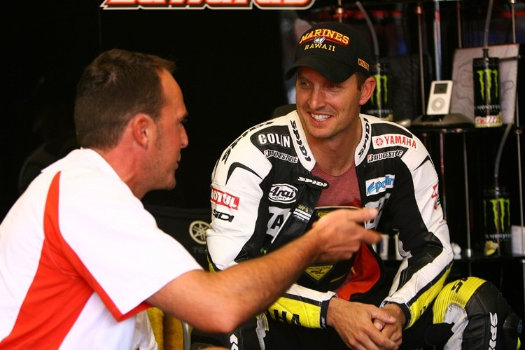 Colin Edwards hat gute Laune