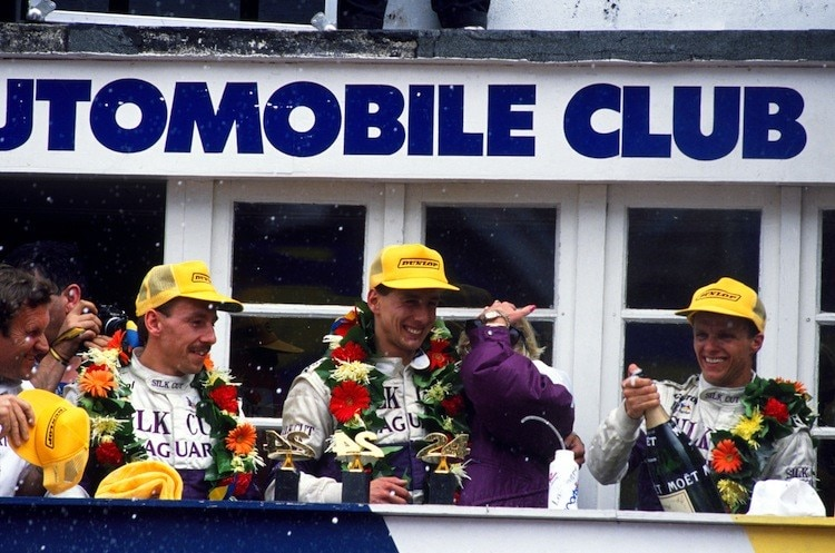 Andy Wallace, Johnny Dumfries und Jan Lammers in Le Mans 1988