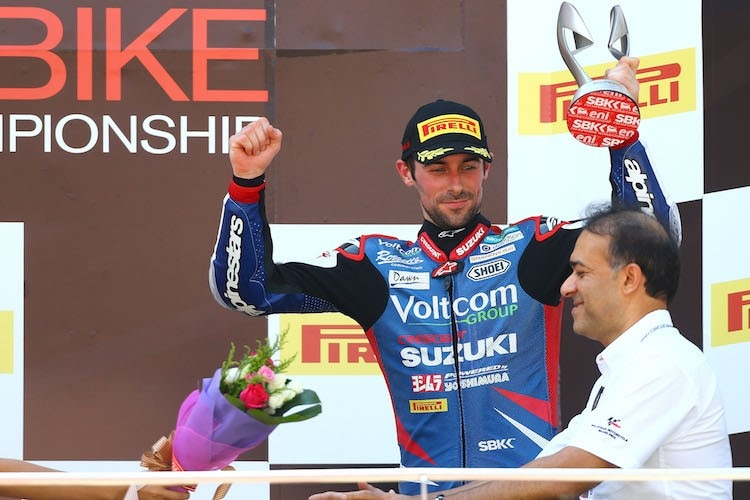 Platz 3 in Sepang - zweites Podium für Eugene Laverty 2014