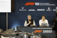 Formel-1-Sportchef Ross Brawn in Texas mit FIA-Techniker Nikolas Tombazis