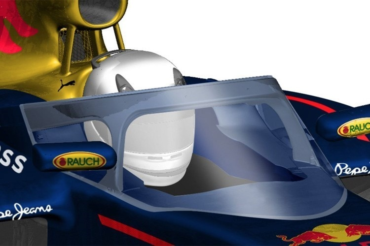 Der Aeroscreen von Red Bull Racing