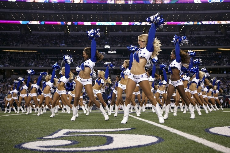Die Cheerleaders der «Dallas Cowboys» treten in Austin auf