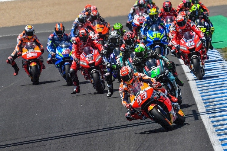 Der MotoGP-Start in Jerez