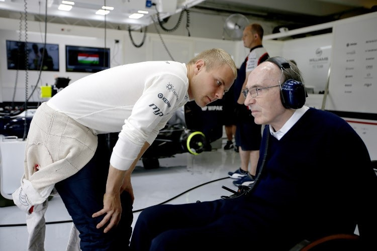 Valtteri Bottas und Sir Frank Williams