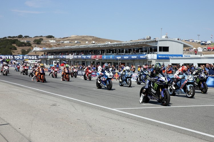 Start der AMA Superbike in Laguna Seca 2013
