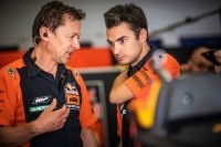 Teammanager Mike Leitner mit Dani Pedrosa