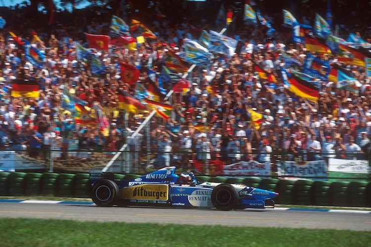 Michael Schumacher 1995 in Hockenheim