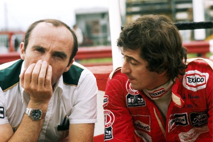 Frank Williams mit Patrick Nève