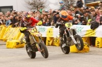 Supermoto-Action in Saarbrücken