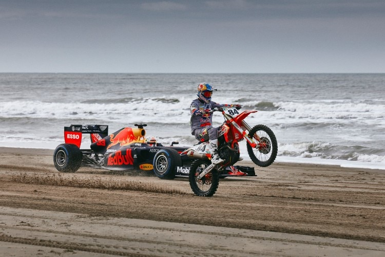 Max Verstappen and Jeffrey Herlings in Aktion