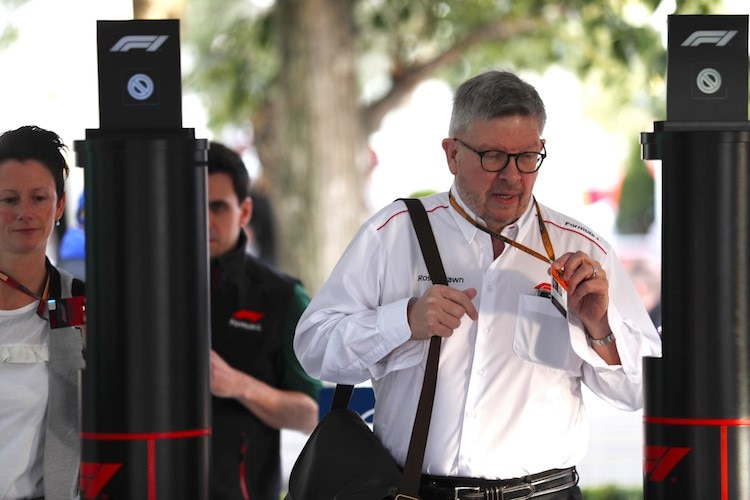Ross Brawn in Melbourne
