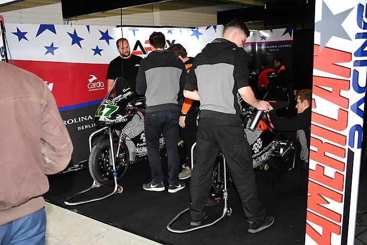 KTM-Test in Jerez 2019: Die Box des American Teams