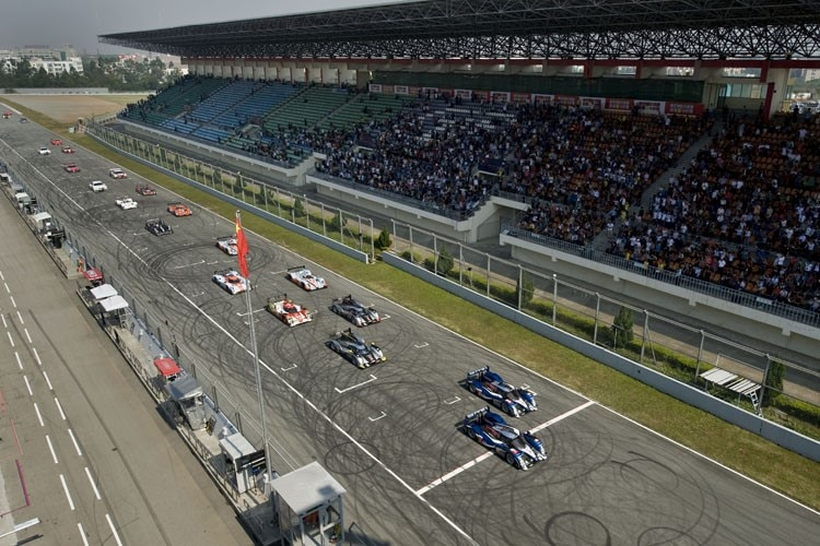 Der Start in Zhuhai: Peugeot vor Audi