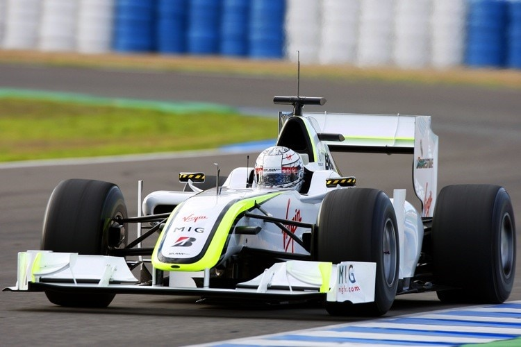 Mike Conway im Brawn