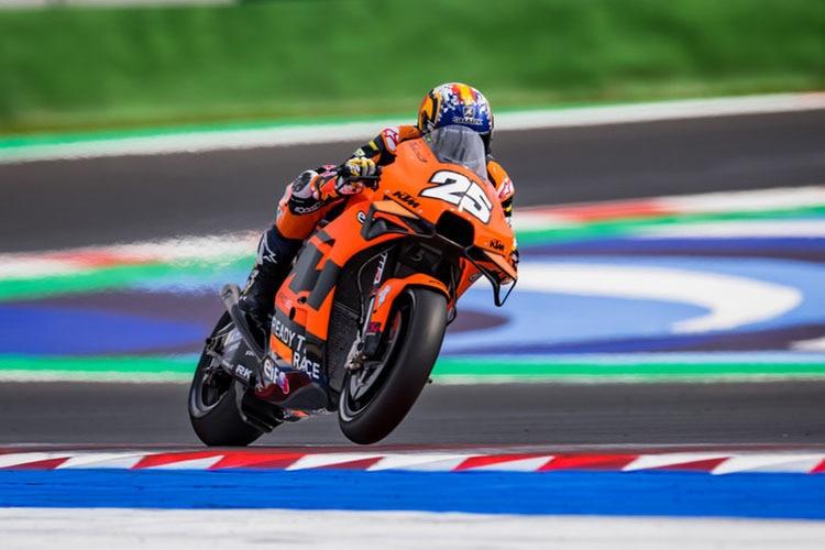 Raúl Fernández aux essais MotoGP à Misano : KTM a besoin d'espace pour plus de talents