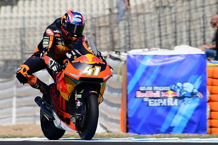 Brad Binder in Jerez